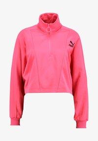 CROPPED HALF ZIP - Sweatshirt - fluo pink