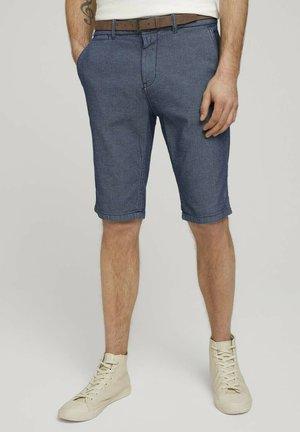 Shorts - blue indigo structure