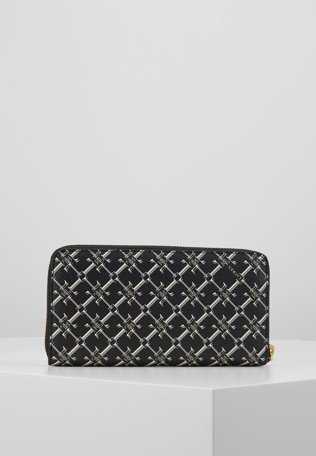 COATED ZIP - Wallet - black heritage