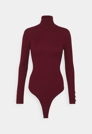 ROLL NECK BODY - Long sleeved top - burgundy