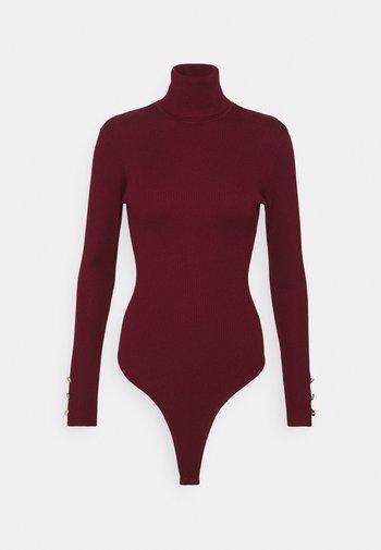 ROLL NECK BODY - Topper langermet - burgundy
