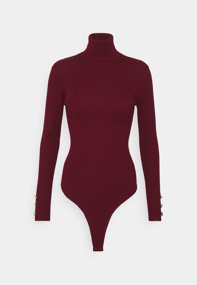 ROLL NECK BODY - T-shirt à manches longues - burgundy