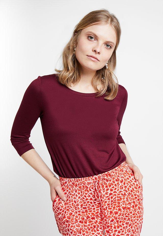 Pitkähihainen paita - zinfandel dark red