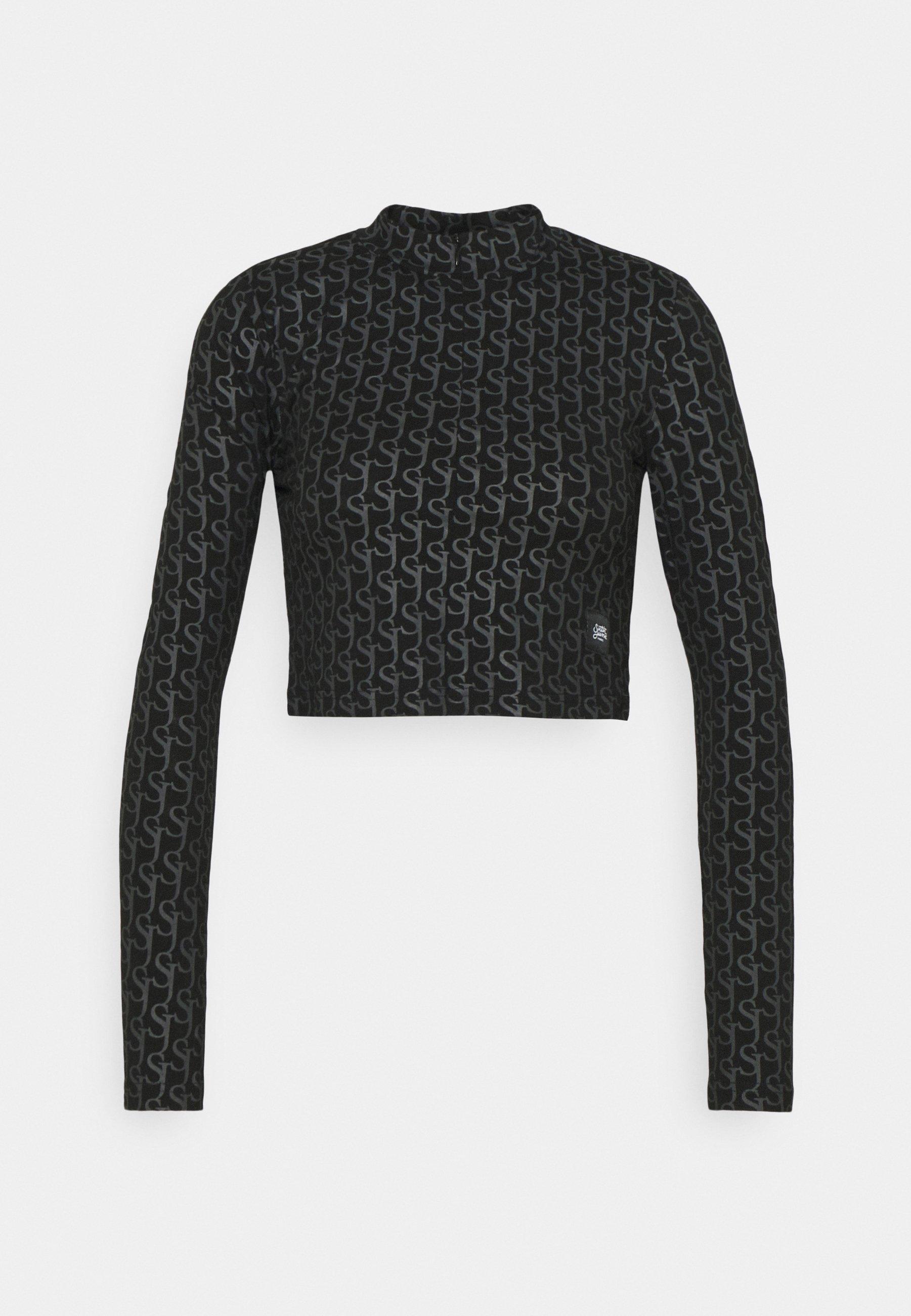 Women MONOGRAM CROP  - Long sleeved top
