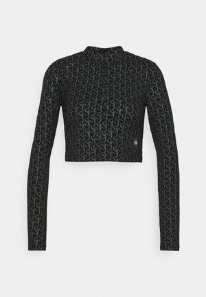 MONOGRAM CROP  - Long sleeved top - black