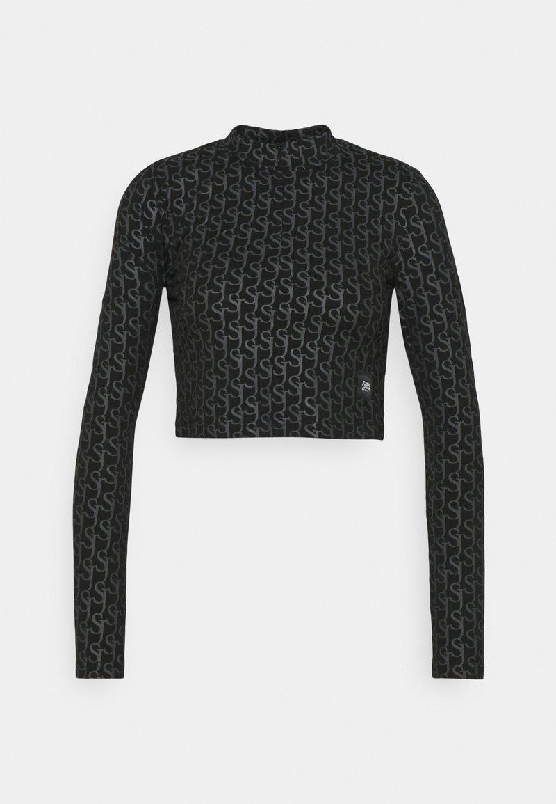 Sixth June - MONOGRAM CROP  - Top sdlouhým rukávem - black