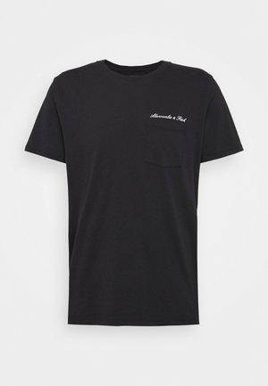 WASHED SCRIPT - Camiseta estampada - black