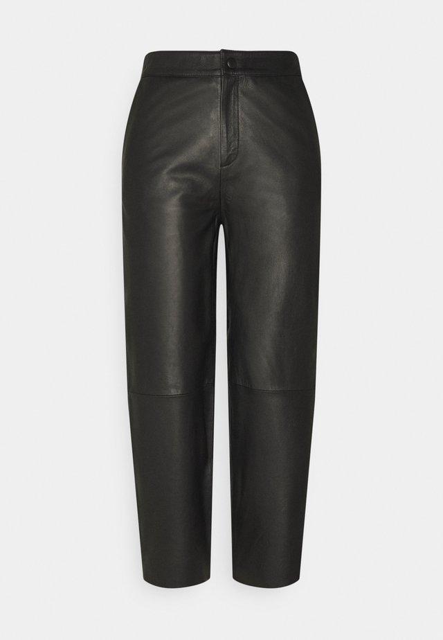 OBJVIOLA - Pantaloni di pelle - black