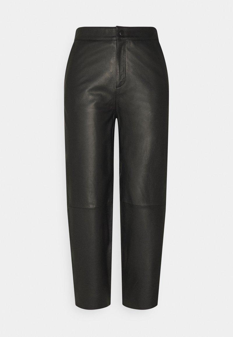 Object Petite - OBJVIOLA - Leather trousers - black