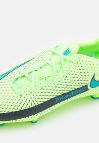 Nike Performance - PHANTOM GT ACADEMY FG/MG - Moulded stud football boots - lime glow/aquamarine - 5
