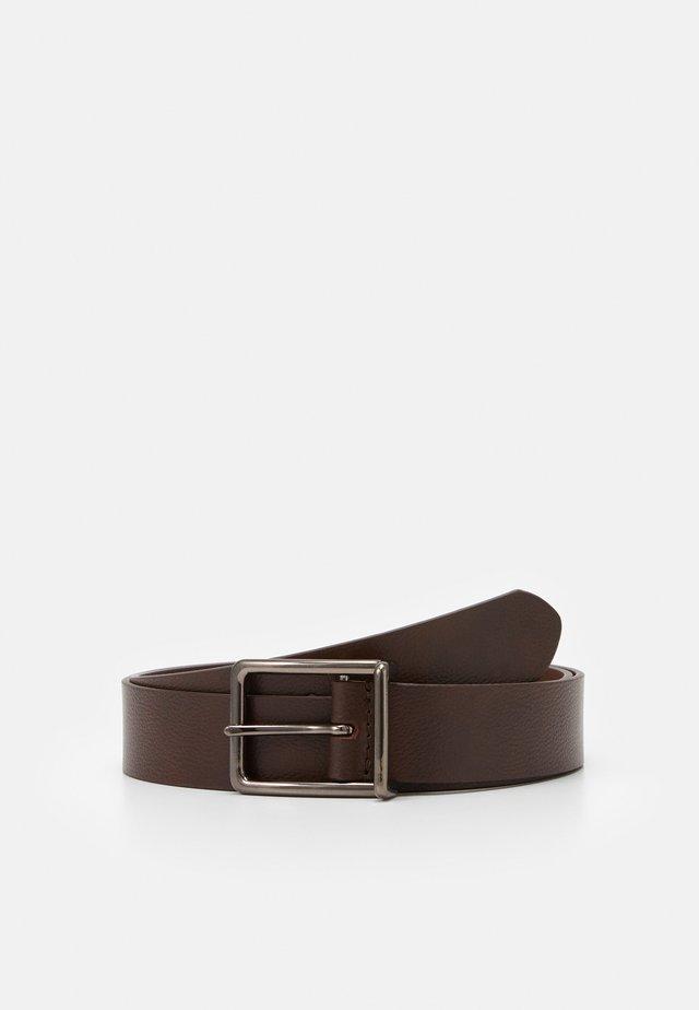 LEATHER - Pásek - dark brown