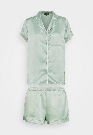 TRADITIONAL SHORT SLEEVE SHIRT  - Pyjama - green