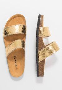 Bianco - BIABETRICIA TWIN STRAP - Slippers - gold - 3