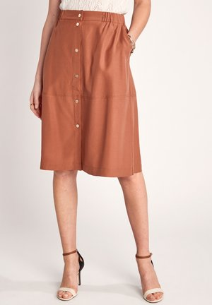 A-line skirt - burnt sienna
