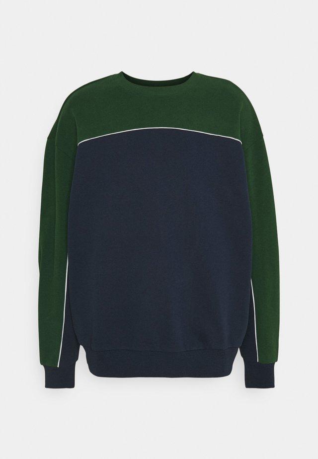 OVIE COLOURBLOCK - Sweatshirt - dark green