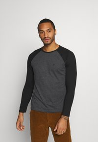 Burton Menswear London - LONG SLEEVE RAGLAN 2 PACK - Long sleeved top - grey marl - 3