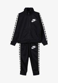 Nike Sportswear - NIKE BLOCK TAPING TRICOT SET - Tracksuit - black - 7