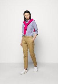 Polo Ralph Lauren - STRETCH - Button-down blouse - navy/white - 1