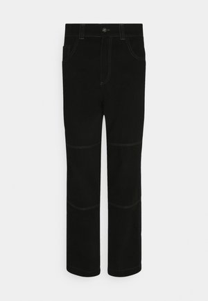 DRILL TROUSER WITH TOPSTITCH - Džíny Relaxed Fit - black