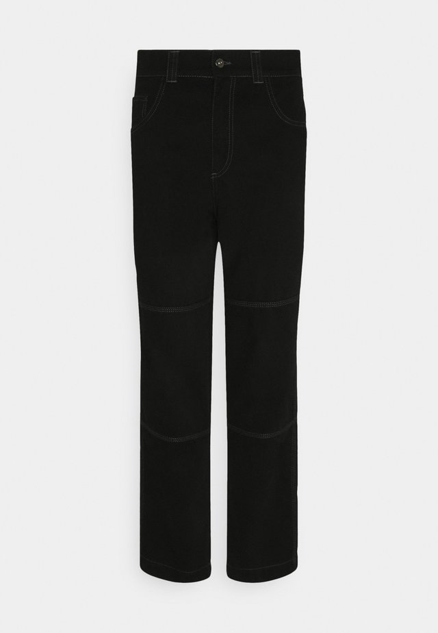 DRILL TROUSER WITH TOPSTITCH - Relaxed fit -farkut - black