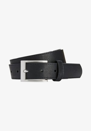 BLACK STITCHED EDGE BELT - Belt - black