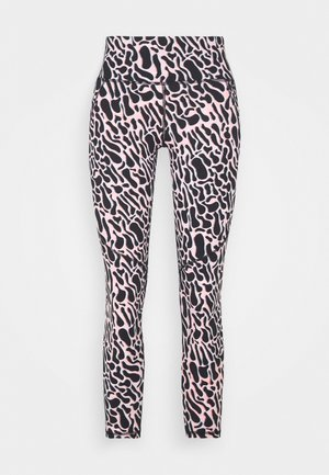 POWER 7/8 WORKOUT LEGGINGS - Tights - black psychedellic