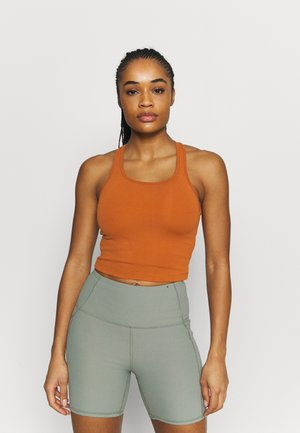 BOLD CROP TANK - Linne - hazel brown