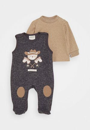 WILD WILD WEST SET - Sleep suit - dunkelblau melange/braun melange