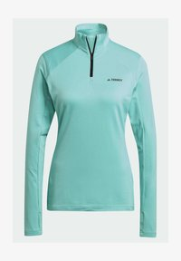 adidas Performance - TERREX EVERYHIKE HALF-ZIP FLEECE OBERTEIL - Fleece jumper - mint - 8