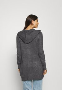Anna Field - HOODED CARDI - Cardigan - dark grey melange - 2