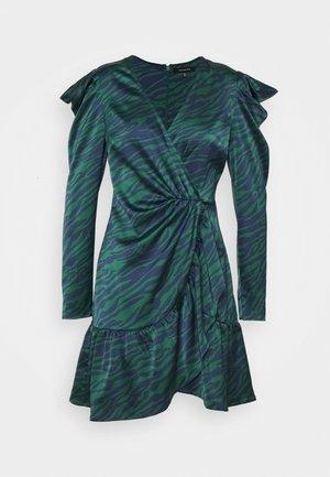 WRAP OVER PARTY DRESS - Robe de soirée - green
