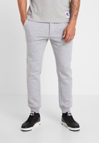 Jack & Jones - JJIGORDON JJSOFT PANTS - Verryttelyhousut - light grey melange - 0
