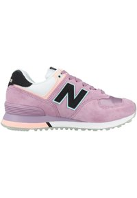 New Balance - Sneakersy niskie - canyon violet-peach soda-black (wl574saw) - 4
