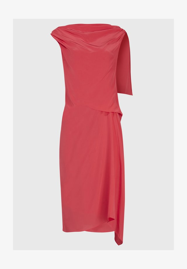 FOY SILK DRESS - Day dress - pink
