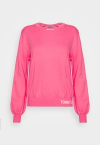 Tommy Jeans - FINE CREW NECK SWEATER - Jumper - glamour pink - 4
