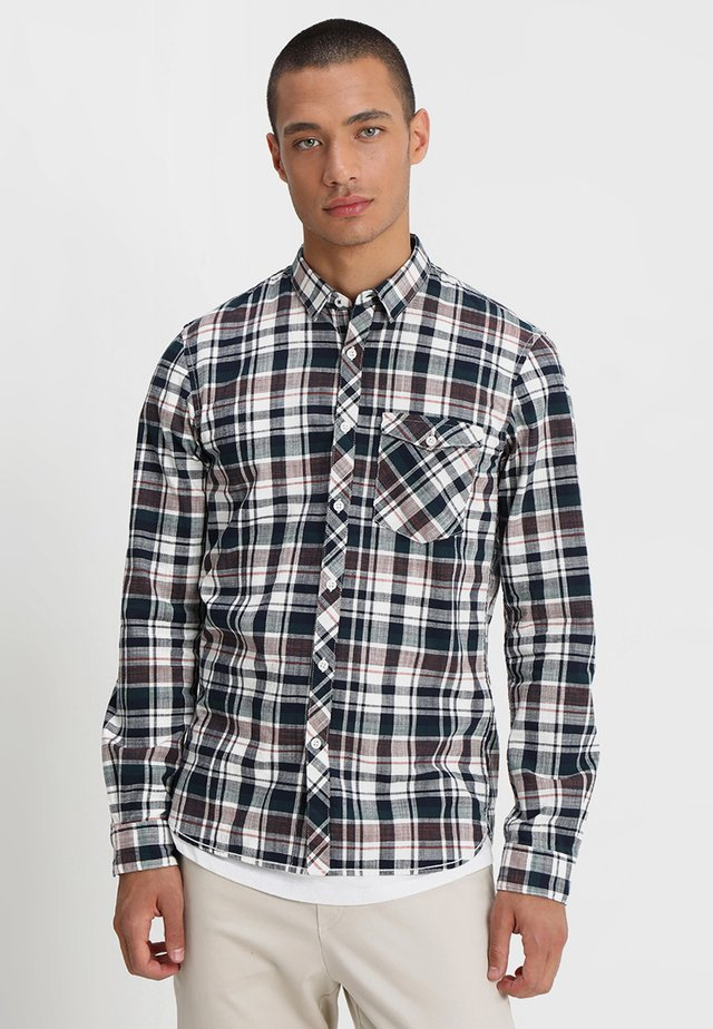 FITTED CHECK - Shirt - marocco orange