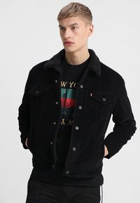 Levi's® - TYPE 3 SHERPA TRUCKER - Denim jacket - black cord better - 0