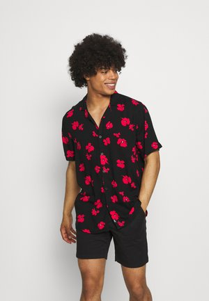 TECH FLORAL - Shirt - black