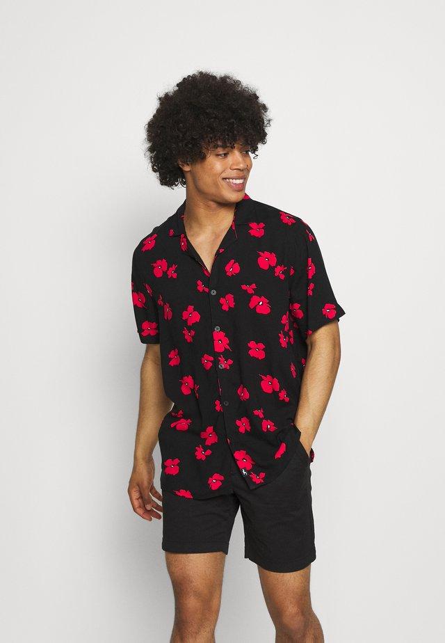 TECH FLORAL - Camicia - black