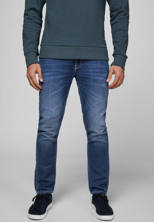INDIGOKNIT - Jean slim - dark blue denim