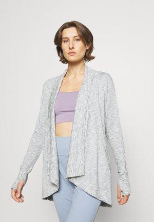 PRANAYAMA WRAP - Sweater met rits - marl heather