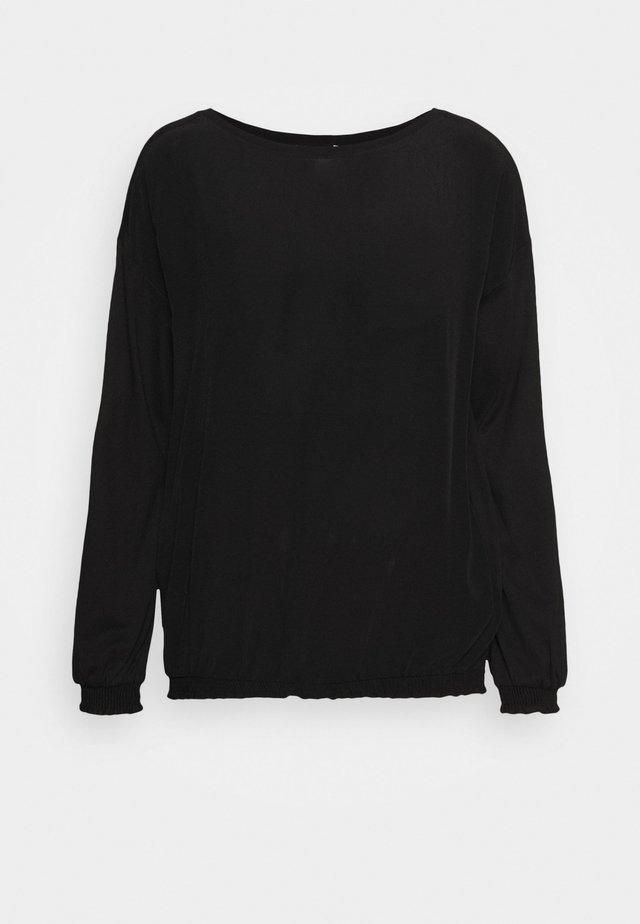 BUBBLE TEE - Bluzka - black