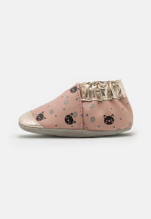 CAT DOTS - First shoes - rose/or