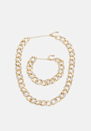BASIC NECKLACE AND BRACELET SET - Necklace - gold-coloured