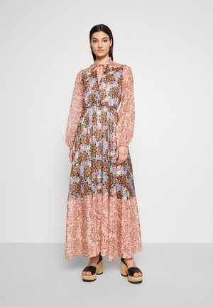 CARTOCCIO ABITO MUSSOLA STAMPA - Długa sukienka - multicolor/nero/arancio