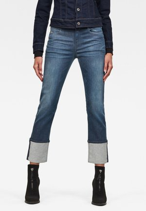NOXER HIGH STRAIGHT  - Straight leg jeans - worn in gravel blue