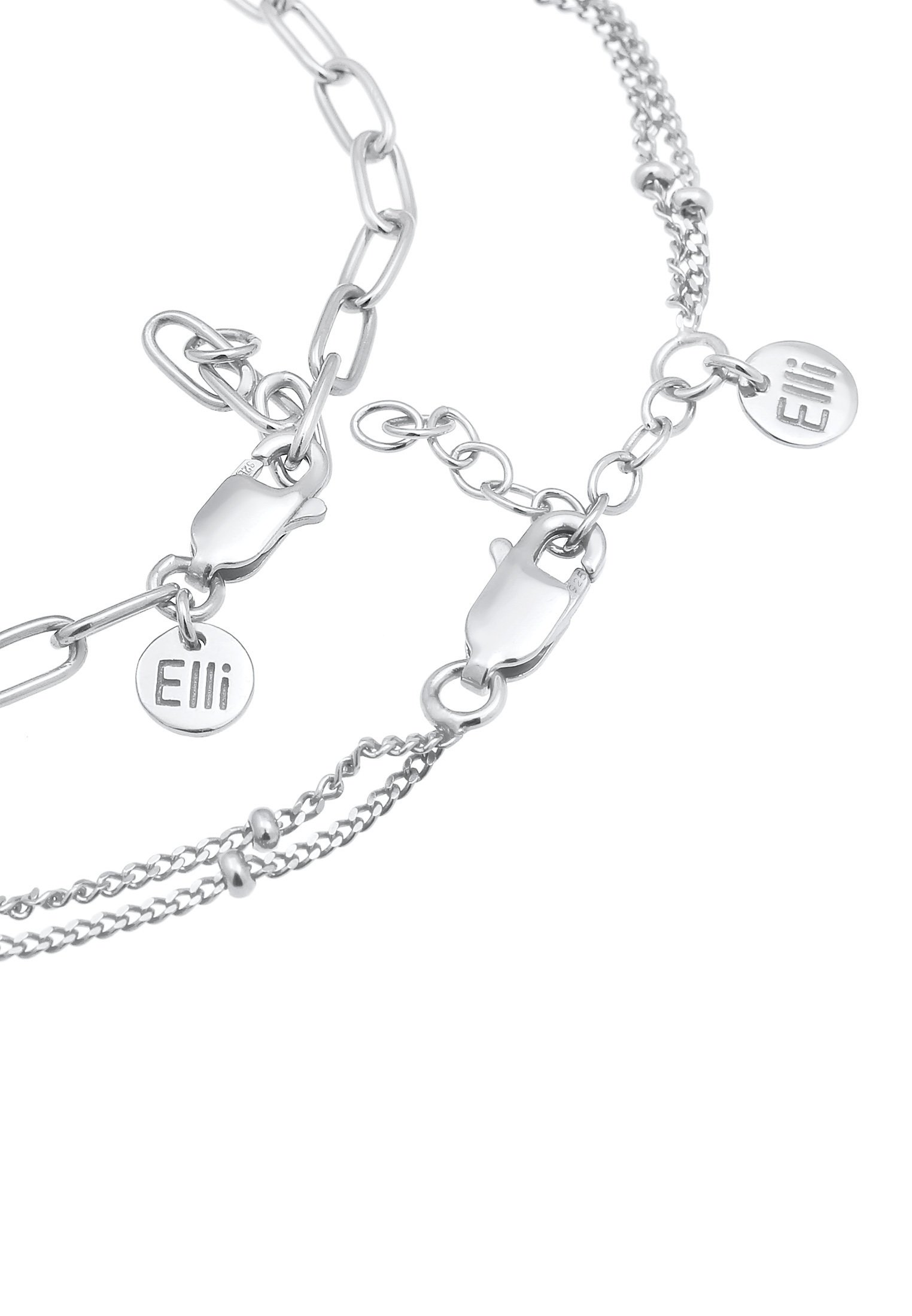 Elli 2er Set Layer - Armband Silber