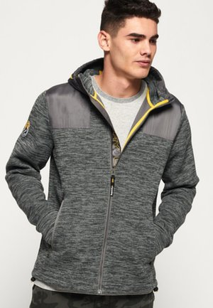 MOUNTAIN HOODIE MET RITS - Zip-up hoodie - smoked pearl