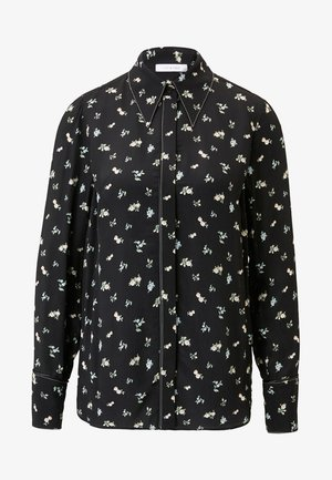 MIT FLORALEM PRINT - Button-down blouse - black