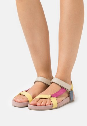 PEACE - Sandals - rosa/multicolor